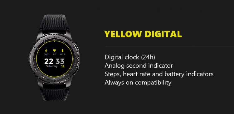 gear yellow watch features