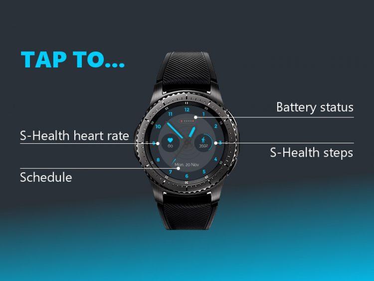 cyan watch face analog interactive
