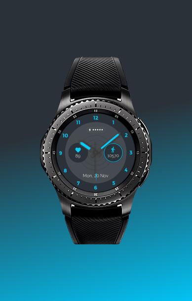 cyan watch face screenshot