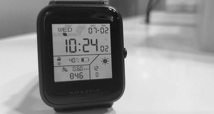 Amazfit Bip digital watchface