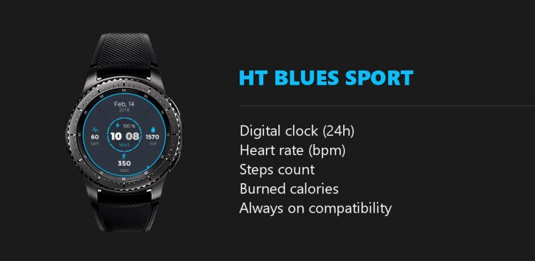 ht blues sport features watchface