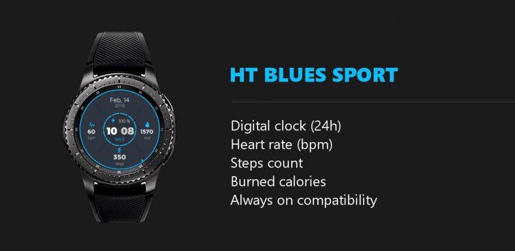 ht blues sport features watchface