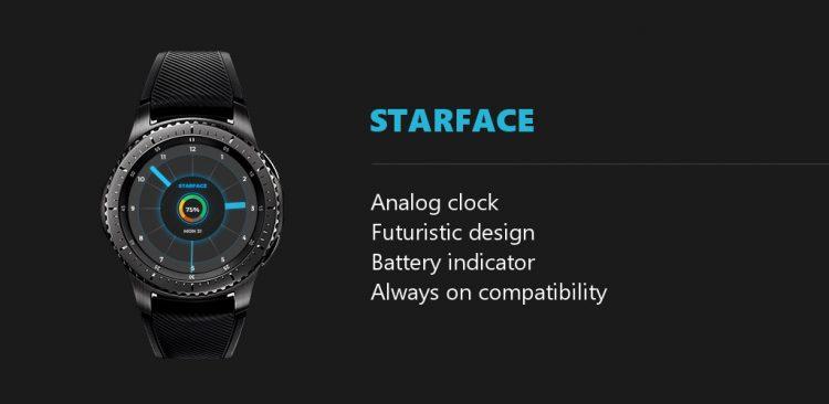starface futuristic blue features