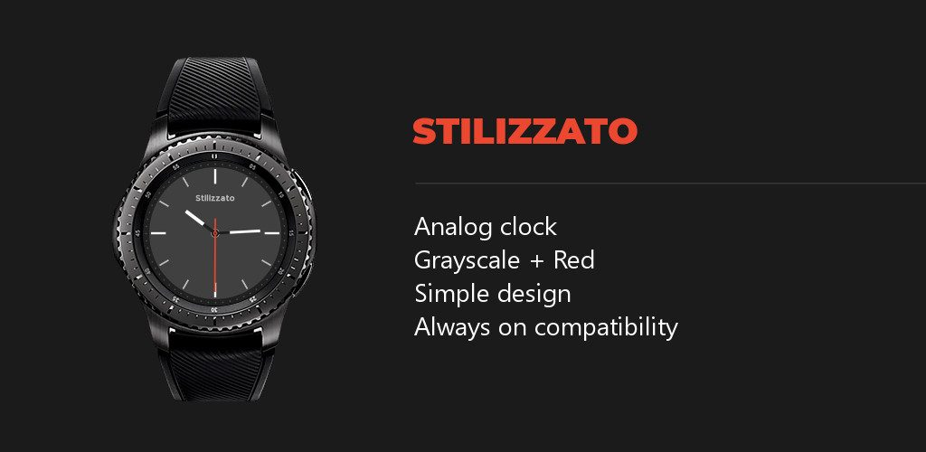 stilizzato classic watchface features