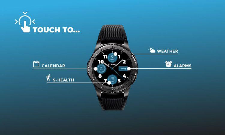ht navy blue watchface interactive