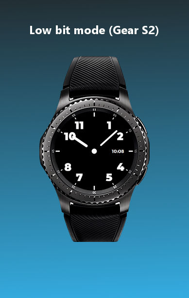 ht navy blue watchface low bit