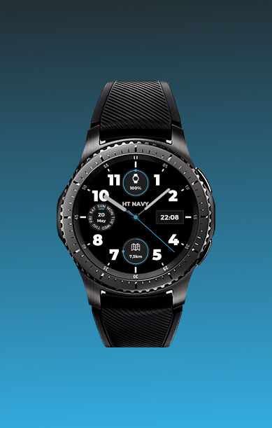 ht navy blue watchface
